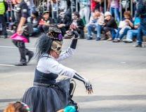 Day of the dead Dia de los Muertos parade in Mexico city - Mexico Stock Photos