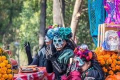 Day of the dead Dia de los Muertos parade in Mexico city - Mexico Royalty Free Stock Photo