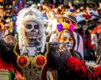 Day of the dead Dia de los Muertos parade in Mexico city - Mexico Stock Image
