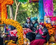 Day of the dead Dia de los Muertos parade in Mexico city - Mexico Royalty Free Stock Images