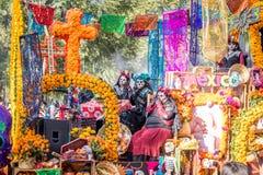 Day of the dead Dia de los Muertos parade in Mexico city - Mexico Stock Photo