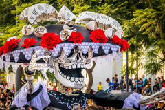 Day of the dead Dia de los Muertos parade in Mexico city - Mexico Stock Photo