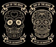 Day of the dead. Dia de los muertos. Set of the sugar skulls. Design elements for poster, greeting card, banner. Vector illustrati. On Stock Photo