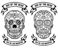 Day of the dead. Dia de los muertos. Set of the sugar skulls. Design elements for poster, greeting card, banner. Vector illustrati. On Stock Image