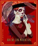 Day of the dead. Dia de los muertos. Day of the dead skull stock illustration