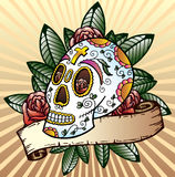 Day of the dead festival skull vector illustration Royalty Free Stock Photo