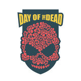 Day of the Dead. Flower skull. Mexico traditional holiday religi Stock Images