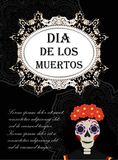 Day of the dead flyer, poster, invitation. Dia de Muertos template card for your design. Holiday in Mexico concept Royalty Free Stock Photos