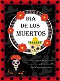 Day of the dead flyer, poster, invitation. Dia de Muertos template card for your design. Holiday in Mexico concept stock illustration