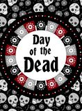 Day of the dead flyer, poster, invitation. Dia de Muertos template card for your design. Holiday in Mexico concept Stock Images