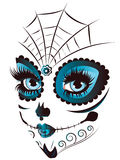 Day of Dead Girl Face Royalty Free Stock Photography
