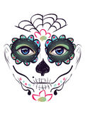 Day of Dead Girl Face Stock Photography
