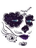 Day of Dead Girl Face Stock Images