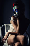Day of the dead girl Stock Image