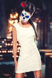Day of the dead girl. With sugar skull makeup Stock Photos