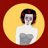 Day Of Dead Girl Royalty Free Stock Photo
