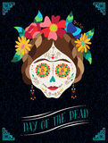 Day of the dead happy catrina illustration design Stock Image