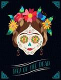 Day of the dead happy catrina illustration design Stock Image