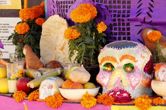 Day of the dead I. Offering as part of the celebrations of the day of the dead in mexico city royalty free stock photo