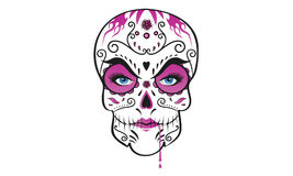 Day of the dead lady scull Royalty Free Stock Photos