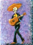 Day of the Dead Mariachi Skeleton Royalty Free Illustration