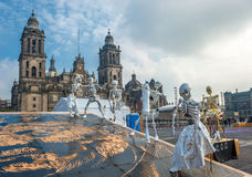 Day of the dead in Mexico city, Dia de los muertos Royalty Free Stock Photos