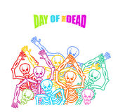 Day of the Dead Multicolored skeleton. color Skull. Dead backgro Stock Image