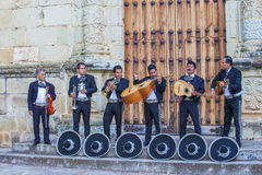 Day of the Dead. OAXACA , MEXICO  - NOV 02 : Mariachis perform during the carnival of the Day of the Dead in Oaxaca, Mexico, on November 02 2015. The Day of the Royalty Free Stock Photo