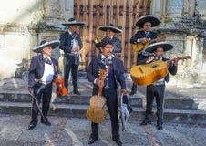Day of the Dead. OAXACA , MEXICO - NOV 02 : Mariachis perform during the carnival of the Day of the Dead in Oaxaca, Mexico, on November 02 2015. The Day of the stock image