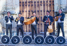Day of the Dead. OAXACA , MEXICO  - NOV 02 : Mariachis perform during the carnival of the Day of the Dead in Oaxaca, Mexico, on November 02 2015. The Day of the Stock Images