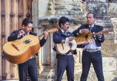 Day of the Dead. OAXACA , MEXICO - NOV 02 : Mariachis perform during the carnival of the Day of the Dead in Oaxaca, Mexico, on November 02 2015. The Day of the stock photos