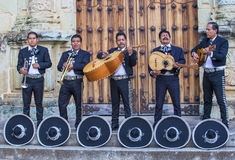 Day of the Dead. OAXACA , MEXICO  - NOV 02 : Mariachis perform during the carnival of the Day of the Dead in Oaxaca, Mexico, on November 02 2015. The Day of the Royalty Free Stock Photography