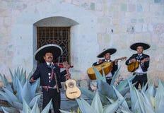 Day of the Dead. OAXACA , MEXICO - NOV 02 : Mariachis perform during the carnival of the Day of the Dead in Oaxaca, Mexico, on November 02 2015. The Day of the royalty free stock photos