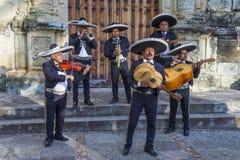 Day of the Dead. OAXACA , MEXICO - NOV 02 : Mariachis perform during the carnival of the Day of the Dead in Oaxaca, Mexico, on November 02 2015. The Day of the stock photo
