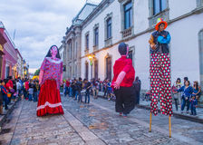 Day of the Dead. OAXACA , MEXICO - NOV 02 : Mojigangas at the carnival of the Day of the Dead in Oaxaca, Mexico, on November 02 2015. Mojigangas are traditional royalty free stock photography