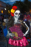 Day of the Dead. OAXACA , MEXICO - NOV 02 : Unidentified participant on a carnival of the Day of the Dead in Oaxaca, Mexico on November 02 2015. The Day of the stock image