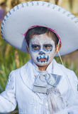 Day of the Dead. OAXACA , MEXICO - NOV 02 : Unidentified participant on a carnival of the Day of the Dead in Oaxaca, Mexico on November 02 2015. The Day of the royalty free stock photo