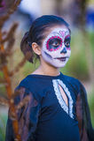 Day of the Dead. OAXACA , MEXICO - NOV 02 : Unidentified participant on a carnival of the Day of the Dead in Oaxaca, Mexico on November 02 2015. The Day of the royalty free stock images