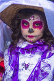 Day of the Dead. OAXACA , MEXICO - NOV 02 : Unidentified participant on a carnival of the Day of the Dead in Oaxaca, Mexico on November 02 2015. The Day of the stock images