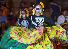 Day of the Dead. OAXACA , MEXICO - NOV 02 : Unidentified participants on a carnival of the Day of the Dead in Oaxaca, Mexico on November 02 2015. The Day of the stock image