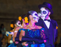 Day of the Dead. OAXACA , MEXICO - NOV 02 : Unidentified participants on a carnival of the Day of the Dead in Oaxaca, Mexico on November 02 2015. The Day of the stock images