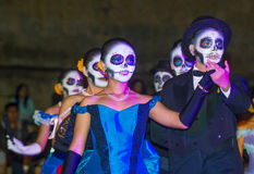 Day of the Dead. OAXACA , MEXICO - NOV 02 : Unidentified participants on a carnival of the Day of the Dead in Oaxaca, Mexico on November 02 2015. The Day of the stock photography