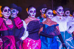 Day of the Dead. OAXACA , MEXICO - NOV 02 : Unidentified participants on a carnival of the Day of the Dead in Oaxaca, Mexico on November 02 2015. The Day of the royalty free stock photography