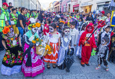 Day of the Dead. OAXACA , MEXICO - NOV 02 : Unknown participants on a carnival of the Day of the Dead in Oaxaca, Mexico, on November 02 2015. The Day of the Dead royalty free stock photo