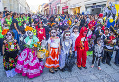 Day of the Dead. OAXACA , MEXICO - NOV 02 : Unknown participants on a carnival of the Day of the Dead in Oaxaca, Mexico, on November 02 2015. The Day of the Dead royalty free stock photos