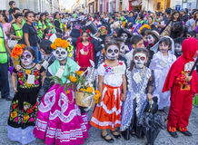 Day of the Dead. OAXACA , MEXICO - NOV 02 : Unknown participants on a carnival of the Day of the Dead in Oaxaca, Mexico, on November 02 2015. The Day of the Dead stock images