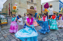 Day of the Dead. OAXACA , MEXICO - NOV 02 : Unknown participants on a carnival of the Day of the Dead in Oaxaca, Mexico, on November 02 2015. The Day of the Dead royalty free stock photo