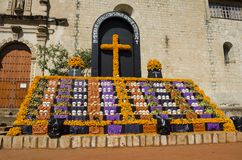 Day of the Dead offering altar for the victims of the earthquakes of September 2017 Stock Photos