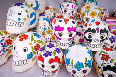 Day of the Dead Painted Skulls, Mexico Royalty Free Stock Photography