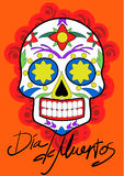 Day of the dead party. Dea de los muertos card. Stock Photography
